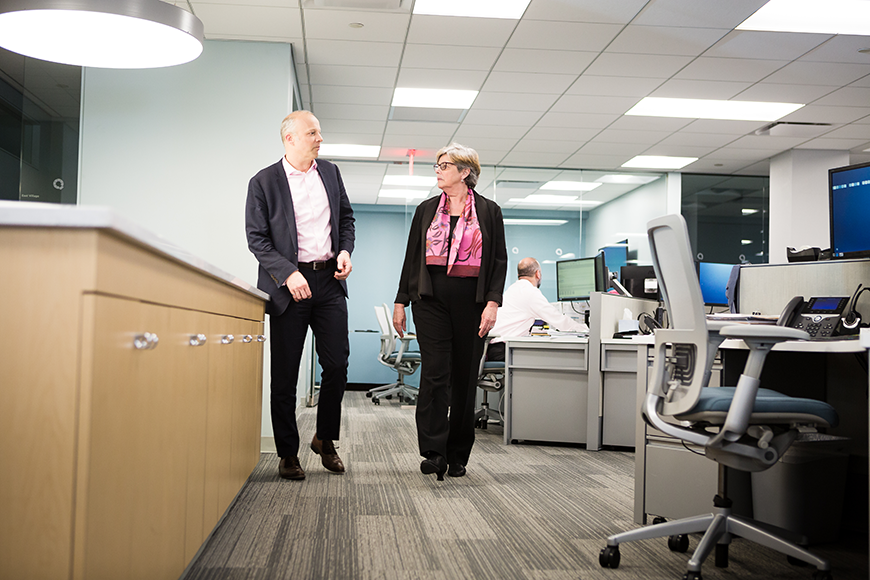 Portrait of Janet Campagna, CEO and Adam Petryk